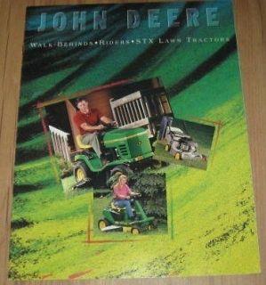 John Deere Walk Behinds Riders STX Lawn Tractors Original Dealer Sales