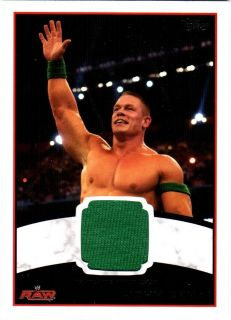 WWE John Cena 2012 Topps Authentic Event Worn Shirt Relic Card Green