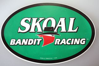 1998 Skoal Bandit Racing 8 inch Oval Decal