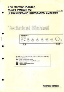 Harman Kardon Original PM 640 Amplifier Service Manual