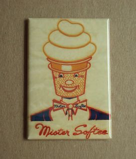 Mister Softee Ice Cream FRIDGE MAGNET sign 80s dairy vanilla soft