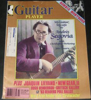 Guitar Player Magazine October 1983 Andres Segovia, Ronnie Montrose