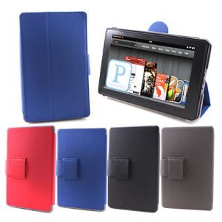 Fit Flip Folio Hard Canvas Case Cover Stand for  7 Kindle Fire