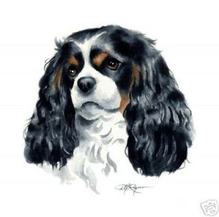 Cavalier King Charles dog art signed print of original acrylic