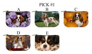 Cavalier King Charles Spaniel Dog Puppy Puppies A E Mini Coin Purse #