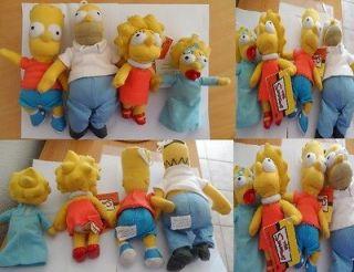 Simpsons Dolls   Homer, Bart, Lisa & Maggie Simpson Soft Toy   NEW