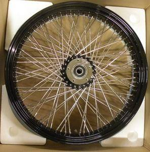 NEW DNA 80 SPOKE SS BLACK RIM & HUB 21X3.5 FRONT WHEEL HARLEY SOFTAIL