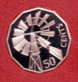 2002 Australia 50 Proof Coin Windmill Outback Water Supply Pump Bore