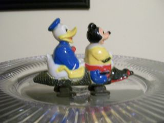 Marx Disney Mickey Mouse Donald Duck on Alligator Ramp Walker 1960s