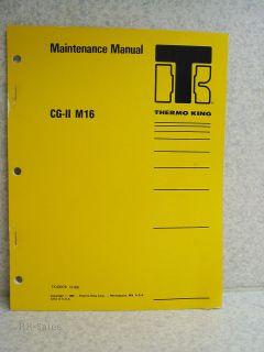 King Maintenance Manual CG II M16 di 2.2 Isuzu Diesel Engine Generator