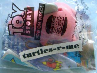 Rare DISNEY Pixar MIP Burger King HAMM Pig TOY STORY Push N Go 1996