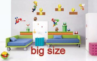 wall stickers super mario game kids room decal home design NO.669