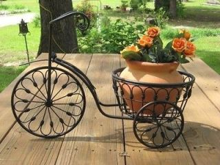 Wrought Iron BICYCLE PLANT STAND GARDEN PATIO FLOWER POT PLANTER NEW