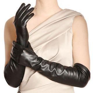Black & L Ladies opera long genuine Italian soft nappa leather gloves