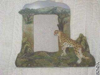 Hallmark Cute Big Cat Cheetah Jungle Resin Picture Frame 3Hx21/4W