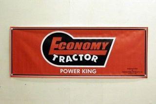 Vintage Economy Power King Lawn Tractor Farm Equipment Banner