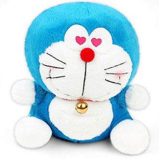 Nwt DORAEMON Plush doll toy 9 new heart eyes version cute great gift