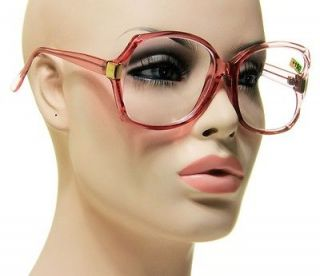 Optical Reading Glasses Transparent Pink With Gold Eyeglasses + 1.75