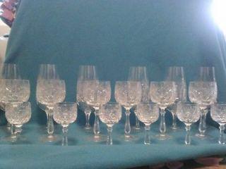 Beautiful Vintage German Lead Crystal Glasses 18 Pieces