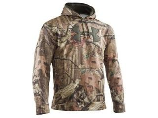 Under Armour UA Mens Camo Big Logo Hunting Hoody Mossy Oak All Sizes!
