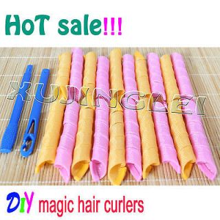 magic Hair Curlers Curlformers Spiral Ringlets Perm Leverage rollers