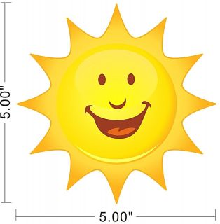 Sun Sky Smile Kids Children Wall Decal Sticker Removable Sticky Vinyl