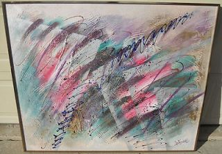 rare+ Lee Reynolds (burr) large abstract oil painting Vangaurd