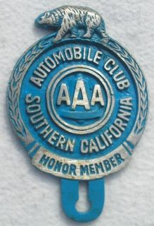 AAA SoCal Southern California License Plate Topper New