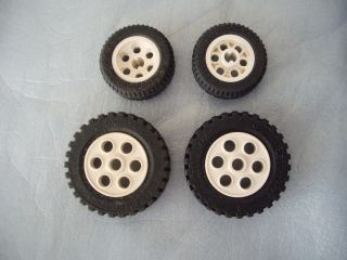 LEGO   4 CAR / TRUCK TIRES AND WHEELS 2695