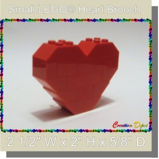 LEGO® Fashion Jewelry Small Heart Brooch Pin Valentines Day