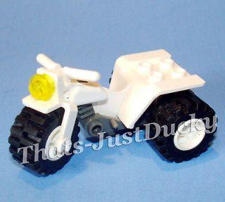 Lego minifig ATV White 3 Wheeler Trike Tricycle Bike Motorcycle Town