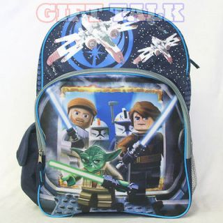 LEGO Star Wars Luke Skywalker Han Solo Yoda School Backpack 16 (Blue)