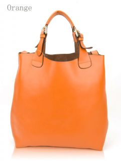 orange leather handbag in Handbags & Purses