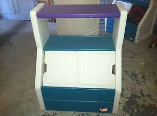 Little Tikes Toy Storage Box Bin Or Chest With Large Shelf And
