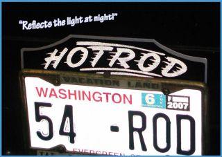 Vintage 1930s HOTROD License Plate Tag Topper 1940 1950s Rod custom