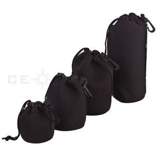 4pcs S+M+L+XL Size Neoprene camera DSLR Lens Soft Pouch Bag case