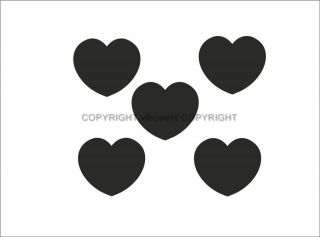 LOVE HEARTS VINYL WALL ART CAR STICKERS MIRROR BOX