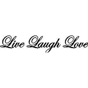 Live Laugh Love Wall Quote Decal Lettering Words COLOR OLYMPIC BLUE