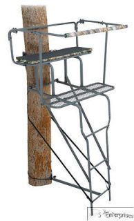 Grizzly 15 deer hunting 2 man ladder stand & FREE camo enclosure NEW
