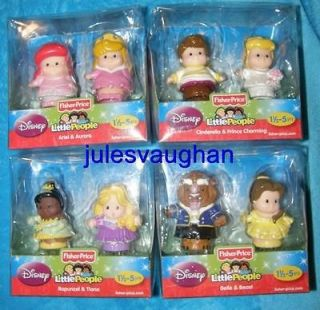 Fisher Price Little People Disney Princess 8 figures/4 packs New in