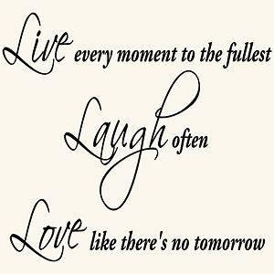 LIVE LAUGH LOVE INSPIRATIONAL QUOTE VINYL WALL DECAL STICKER ART DECOR