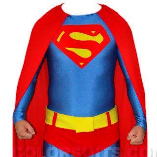 Superman Costume   Lycra Zentai Full Body   Suit Belt Cape   Ships