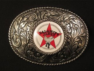 Calamity Janes Jane Western Wear Cowgirl Silver Belt Buckle EUC West