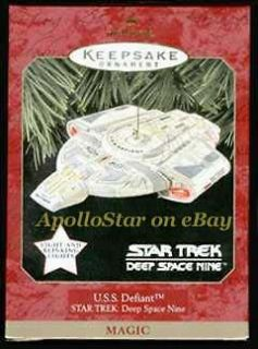 Star Trek DS9 U.S.S. Defiant Lighted Hallmark Keepsake Ornament 1997