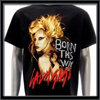 Sz L LADY GAGA T shirt Born This Way Sexy Star Pop Rock