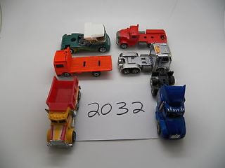 Vintage Toy LOT OF 6 Semi Trucks MATCHBOX HOT WHEELS MAISTO 2032
