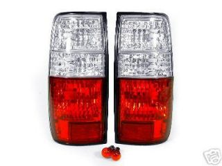 SHIP 1995 1996 1997 LEXUS LX450 LX 450 CRYSTAL RED / CLEAR TAIL LIGHTS