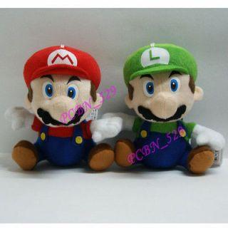 New Super Mario Bros Plush Figure  Mario and Luigi