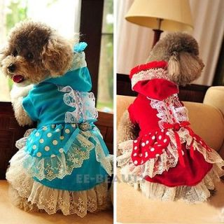 Luxury Lace One Piece Wedding Dress Pet Dog Clothes Puppy Apparel