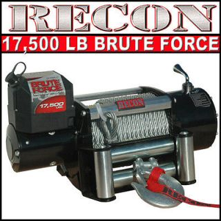 lb 12v VOLT INDUSTRIAL SEMI TRUCK TRAILER SUV RECOVERY WINCH 17000 lbs
